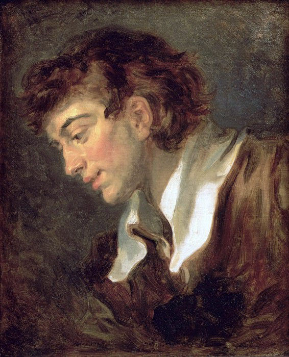 Head of a young Man, Jean Honore Fragonard