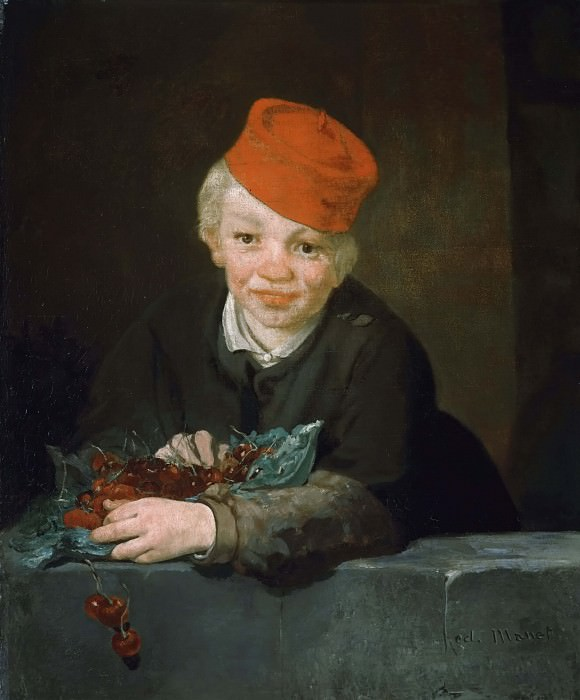 Boy with cherries, Édouard Manet