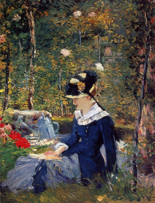 Young Woman in the Garden, Édouard Manet