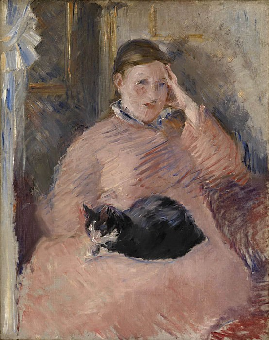 Woman with a Cat Portrait of Madame Manet, Édouard Manet