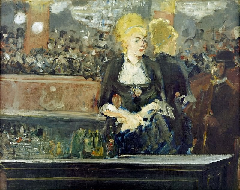 A Bar at the Folies-Bergere Study, Édouard Manet