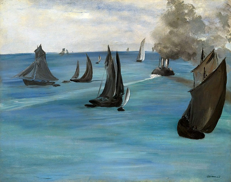 Steamboat Leaving Boulogne, Édouard Manet