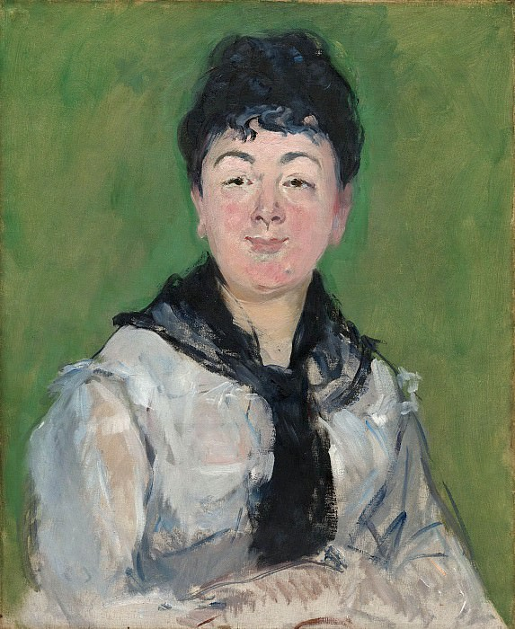Portrait of a Woman with a Black Fichu, Édouard Manet