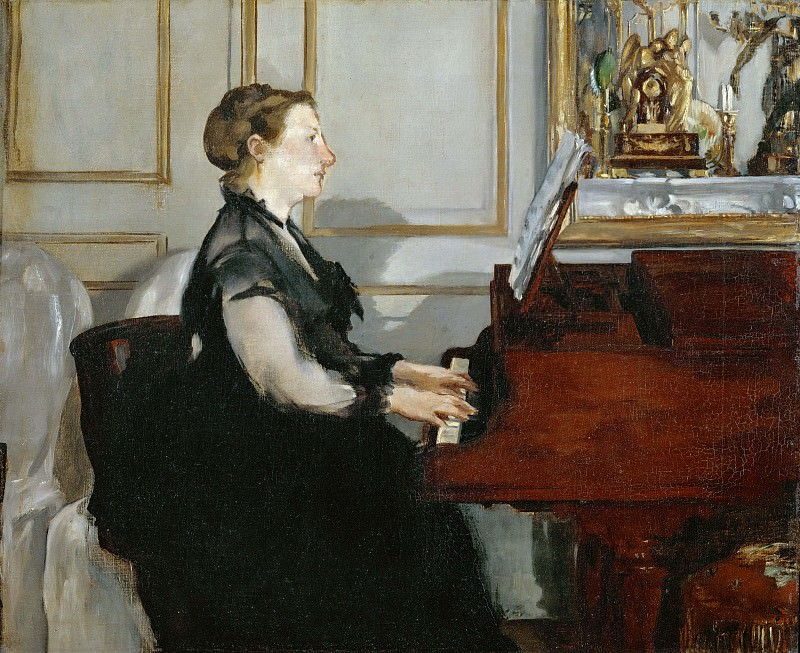 Madame Manet at the piano, Édouard Manet
