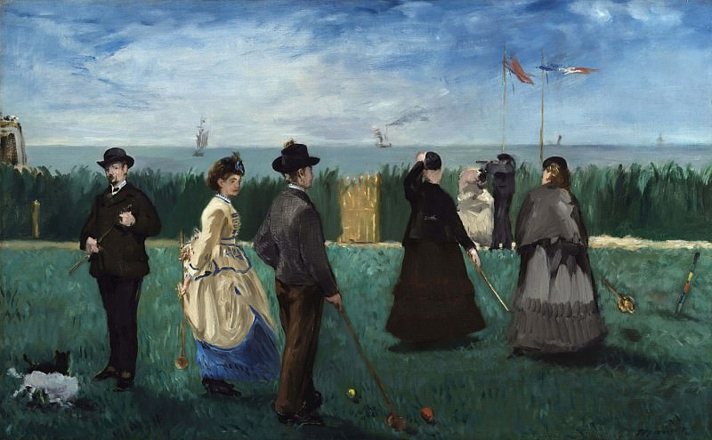 Croquet at Boulogne, Édouard Manet