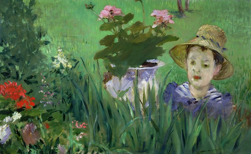 Boy in Flowers Jacques Hoschede, Édouard Manet