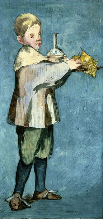 Boy Carrying a Tray, Édouard Manet