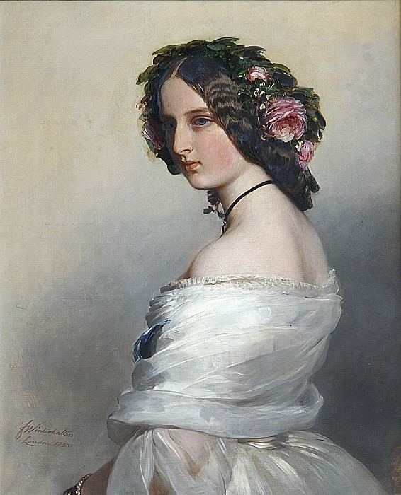 Lady Constance Leveson-Gower 1834-80, later Duchess of Westminster, Franz Xavier Winterhalter