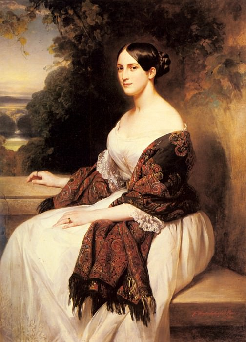 Portrait Of Madame Ackerman, Franz Xavier Winterhalter