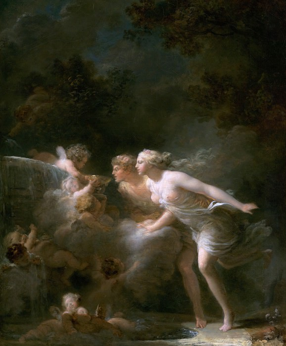 The Fountain of Love, Jean Honore Fragonard