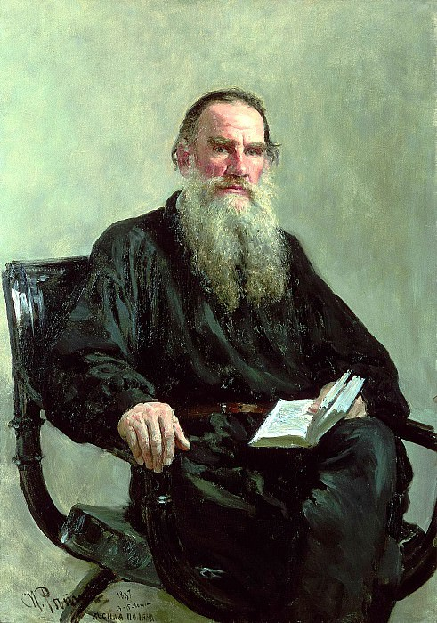 Portrait of the writer Leo Tolstoy. 1887, Ilya Repin