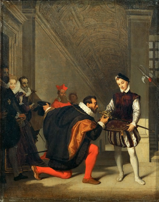 Don Pedro of Toledo Kissing the sword of Henry IV, Jean Auguste Dominique Ingres