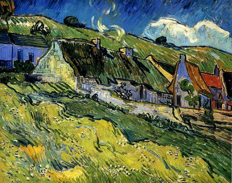 A Group of Cottages, Vincent van Gogh