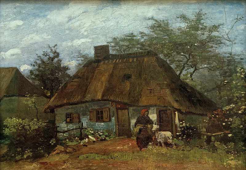 Cottage and Woman with Goat, Vincent van Gogh
