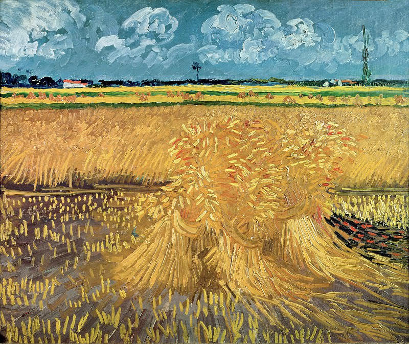 Wheat Field with Sheaves, Vincent van Gogh