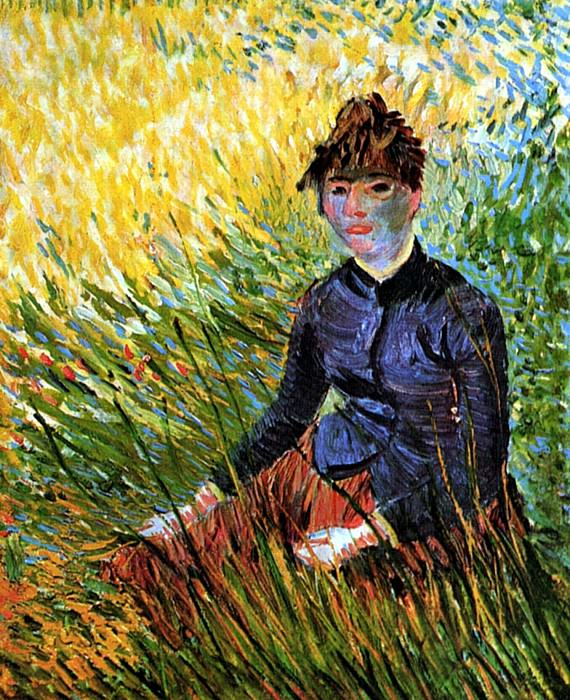 Woman Sitting in the Grass, Vincent van Gogh