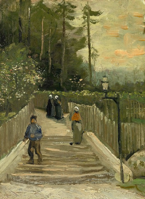 Sloping Path in Montmartre, Vincent van Gogh