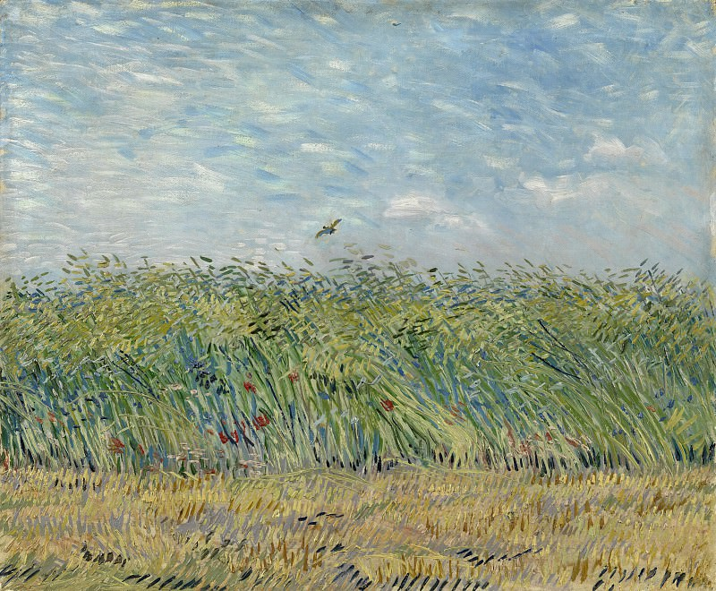 Wheat Field with a Lark, Vincent van Gogh