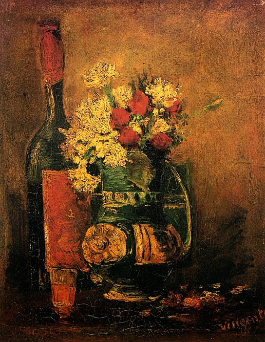 Vase with Carnations and Roses attr., Vincent van Gogh