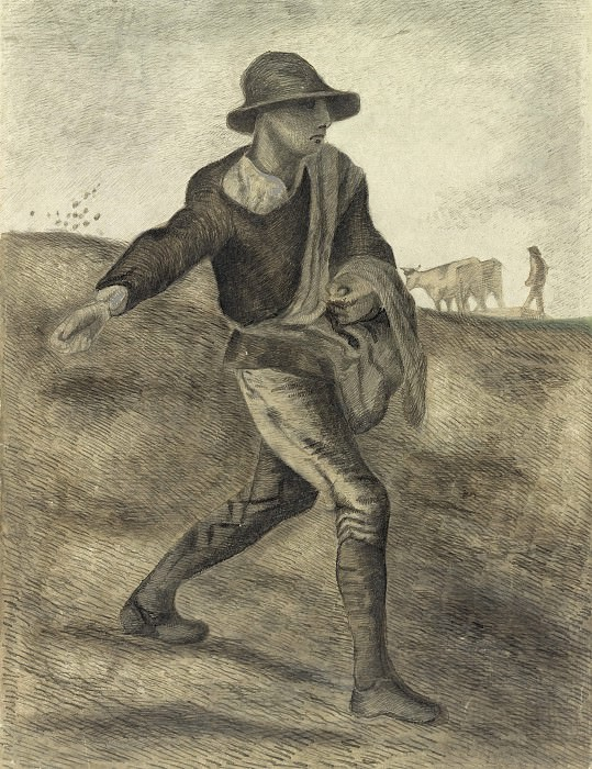 A Sower after Millet, Vincent van Gogh