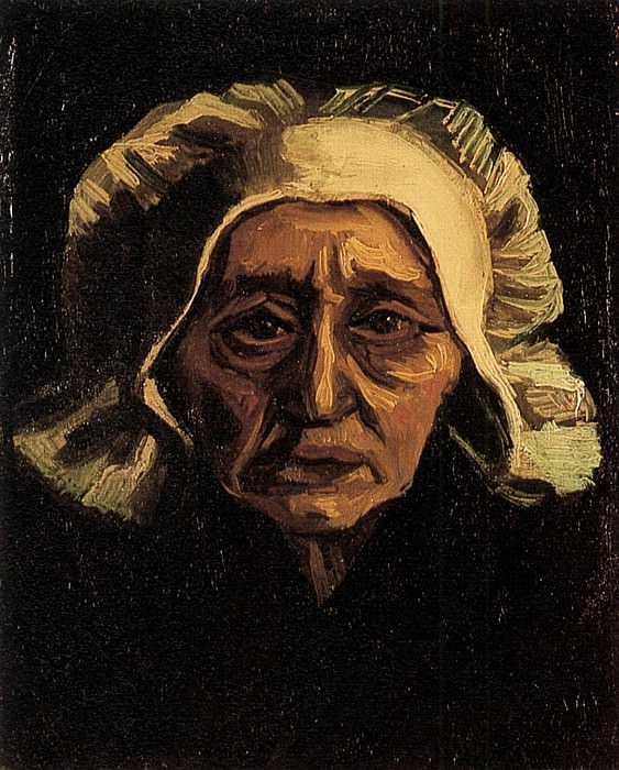 Head of an Old Peasant Woman with White Cap, Vincent van Gogh