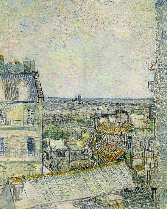 View of Paris from Vincent s Room in the Rue Lepic, Vincent van Gogh