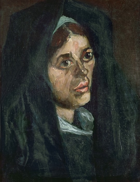 Head of a Peasant Woman in a Green Shawl, Vincent van Gogh