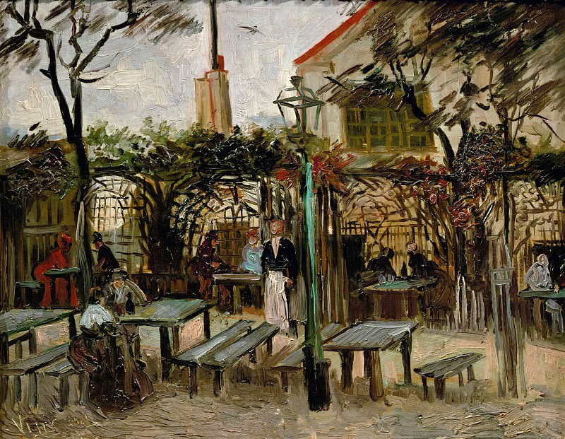 Terrace of a Cafe on Montmartre La Guinguette, Vincent van Gogh