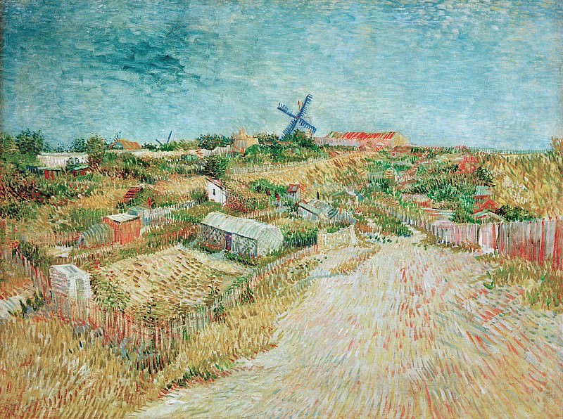 Vegetable Gardens in Montmartre, Vincent van Gogh