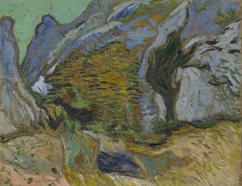 Ravine with a Small Stream, Vincent van Gogh