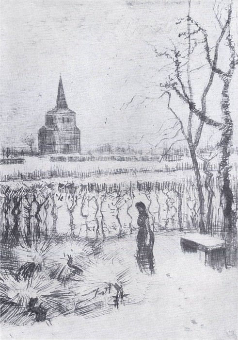 The Old Tower Melancholie, Vincent van Gogh