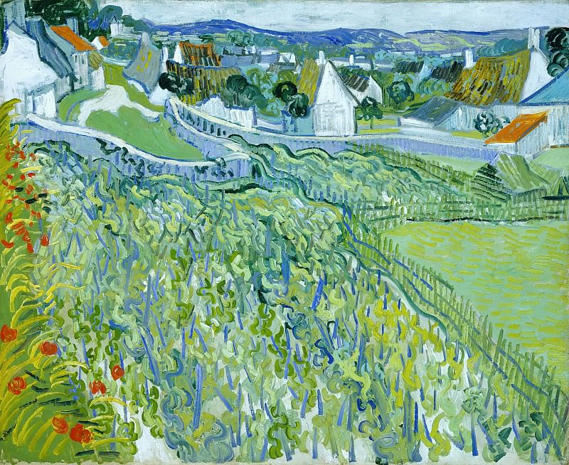Vineyards with a View of Auvers, Vincent van Gogh