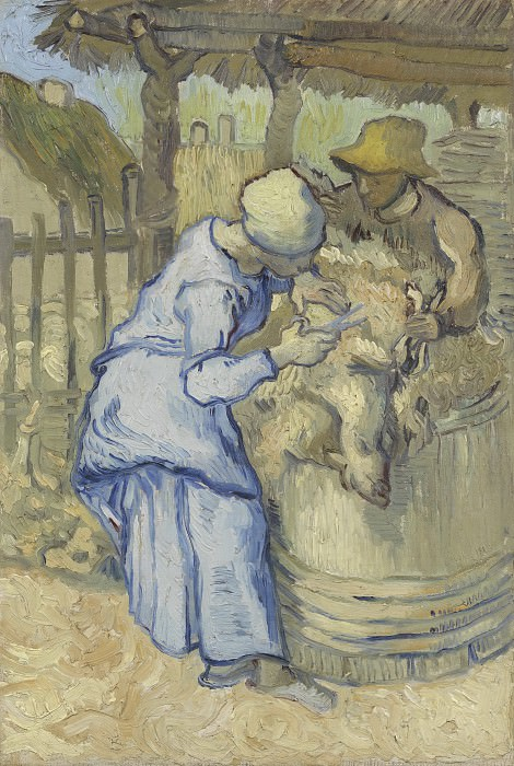 The Sheep-Shearers after Millet, Vincent van Gogh