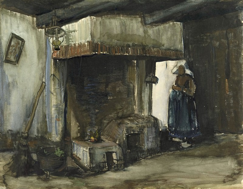 Woman by a Hearth, Vincent van Gogh