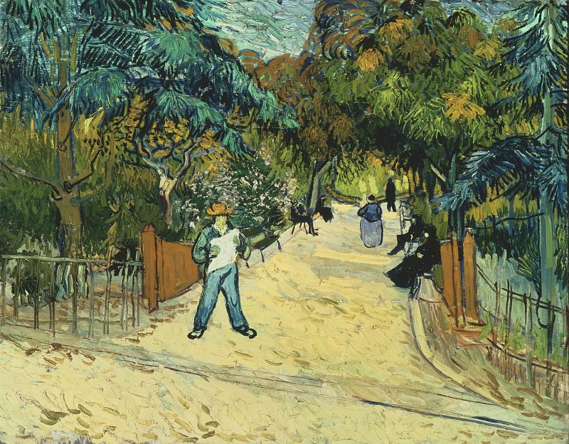 Entrance to the Public Park in Arles, Vincent van Gogh