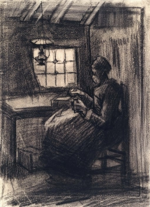 Woman Sewing, Vincent van Gogh