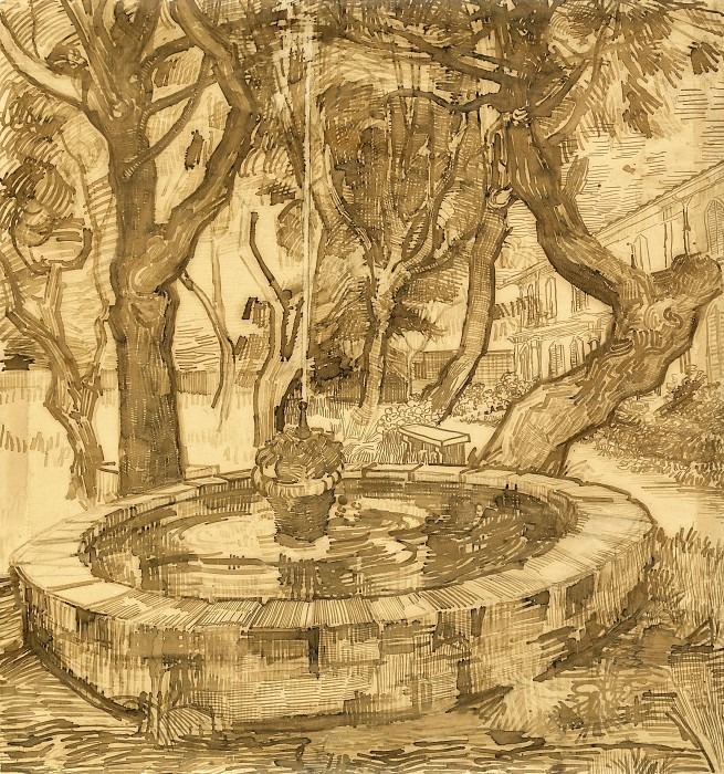 Fountain in the Garden of Saint-Paul Hospital, Vincent van Gogh