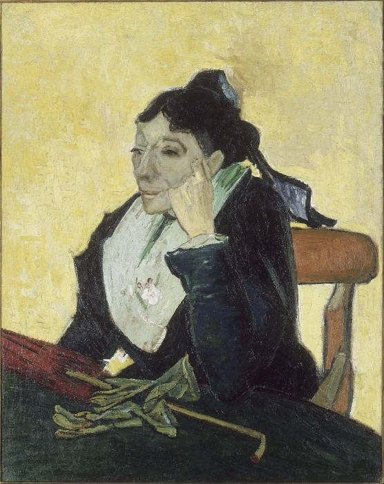 A L Arlesienne Madame Ginoux with Gloves and Umbre, Vincent van Gogh