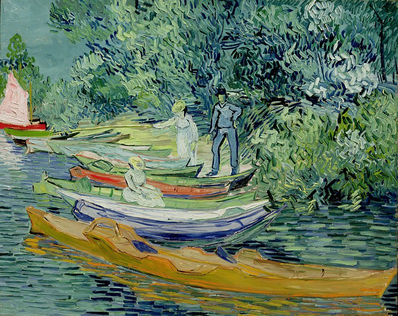 Bank of the Oise at Auvers, Vincent van Gogh