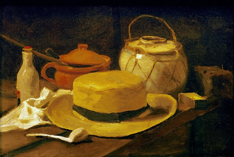 Still-life with straw hat, Vincent van Gogh