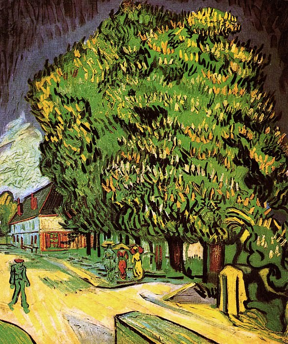 Chestnut Trees in Blossom, Vincent van Gogh