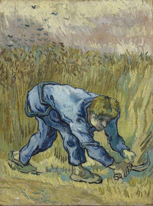 Reaper with Sickle after Millet, Vincent van Gogh