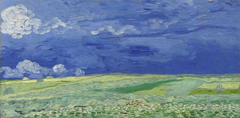 Wheat Field Under Clouded Sky, Vincent van Gogh