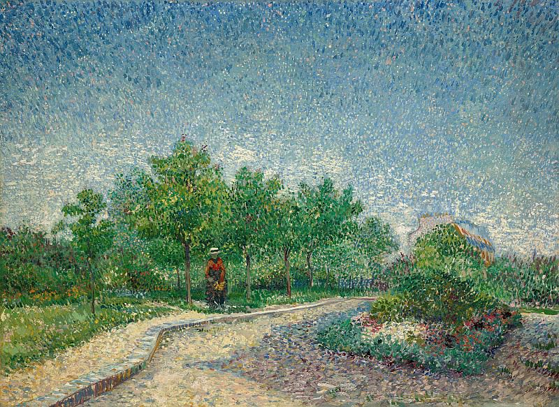 Lane in Voyer dArgenson Park at Asnieres, Vincent van Gogh