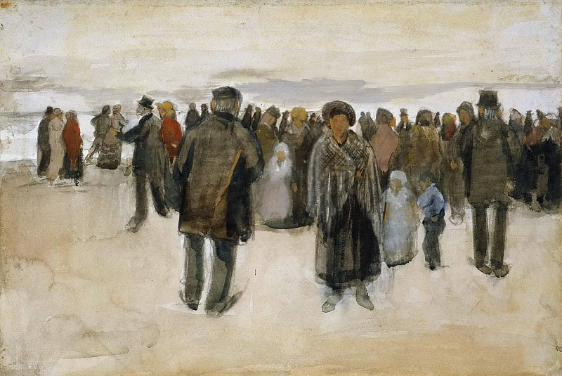 People Strolling on the Beach, Vincent van Gogh