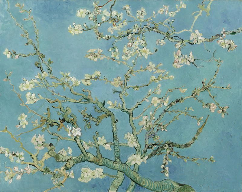 Blossoming Almond Tree, Vincent van Gogh