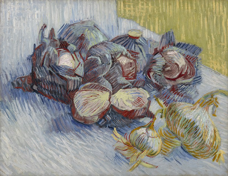 Still Life with Red Cabbages and Onions, Vincent van Gogh