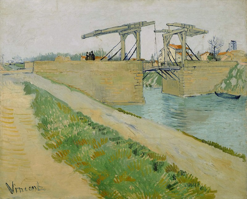 The Langlois Bridge at Arles with Road Alongside the Canal, Vincent van Gogh