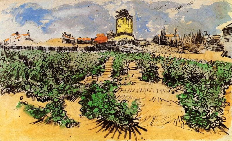 The Mill of Alphonse Daudet at Fontevielle, Vincent van Gogh