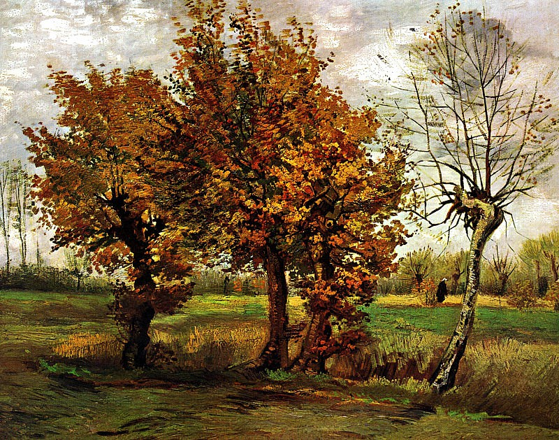 Autumn Landscape with Four Trees, Vincent van Gogh